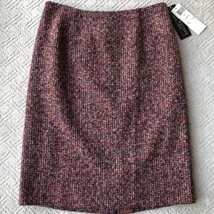NWT Harris Wallace Wool Blend Pencil Skirt, 10